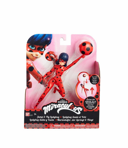 Bandai Miraculous 7.5 inch Action Doll Jump and Fly Ladybug with Yoyo Figure