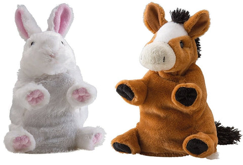 Wild Republic Switch A Rooz Lucky Bunny Rabbit and Charm Horse 7 in. Plush Toy