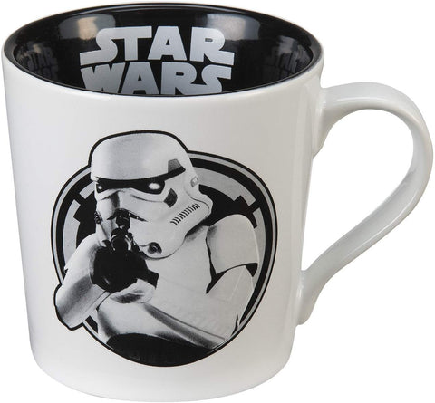 "Vandor 99562 Star Wars Stormtrooper "" Freeze, You Rebel Scum"" White 12-Ounce Ceramic Coffee Mug"