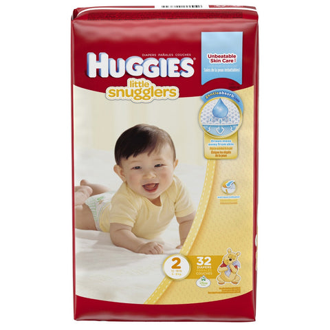 Huggies Little Snugglers Diapers - Size 2 - 32 Count Package
