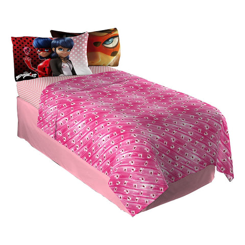 Miraculous Ladybug Twin Bed Sheet Set for Girls