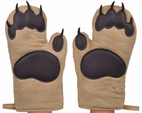 Fred & Friends BEAR HANDS Oven Mitts Pair Set