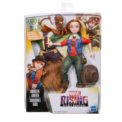 Marvel Rising Secret Warriors Squirrel Girl Doreen Green Secret Identity 11 in. Adventure Action Figure Doll