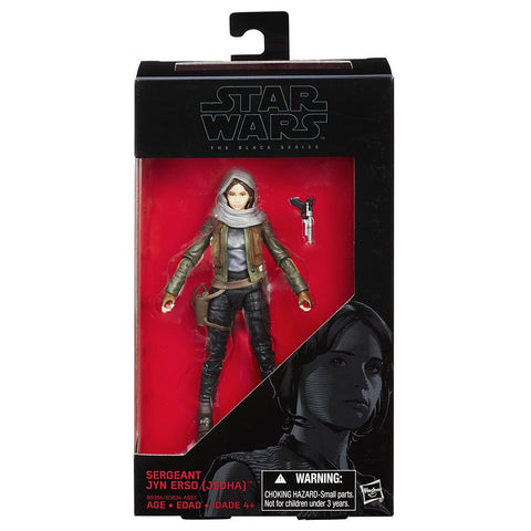 "Hasbro Star Wars The Black Series Rogue One Sergeant Jyn Erso 6"" Inch Action Figure"