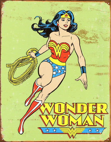 DC Wonder Woman 12 x 16 in. Retro Metal Tin Sign
