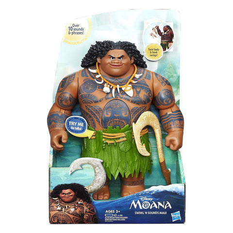 Disney Moana Swing 'n Sounds Maui 12 in Talking Action Figure Doll