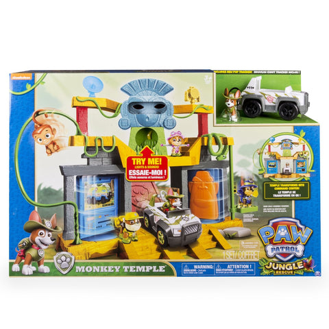 Nickelodeon Paw Patrol Monkey Temple Playset with Tracker and Mandy