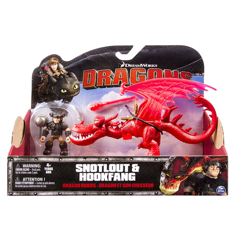 Dreamworks Dragons: Dragon and Racer Hookfang and Snotlout Action Figure set