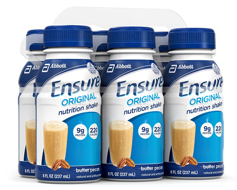 Ensure Original Nutrition Shake, 8 oz, 6 Count - Butter Pecan