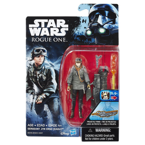 "Hasbro Star Wars Rogue One Sergeant Jyn Erso 3.75"" Inch Action Figure"