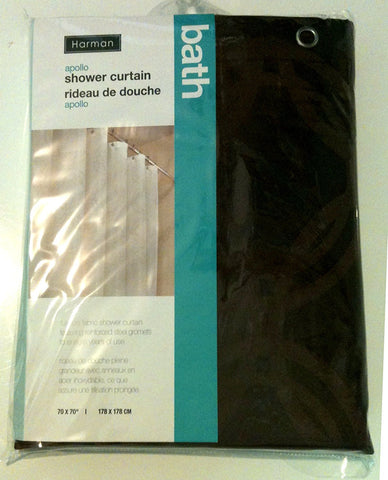 Harman Bath Apollo Shower Curtain 70 in. x 70 in.  - Chocolate