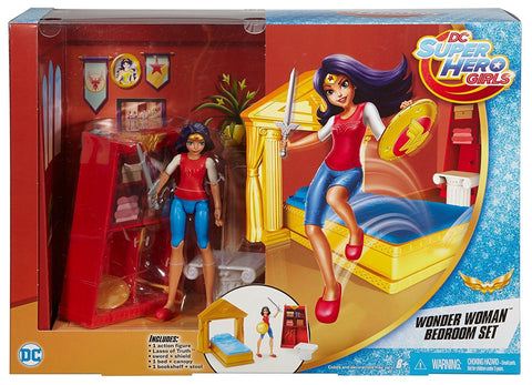 DC Super Hero Girls Wonder Woman 6 In Doll Action Figure Bedroom Set Playset