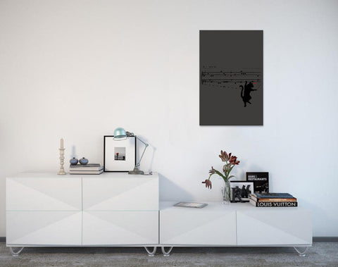 Canvas Wall Art with Frame - The Red Dot Sonata