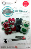 Sew Your Own DIY Sock Bear Sewing Crafts Kit - Black/Grey Bear