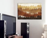 Canvas Wall Art with Frame - Mountainscape IV