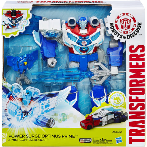 Transformers: Robots In Disguise Power Surge Optimus Prime And Aerobolt Figures