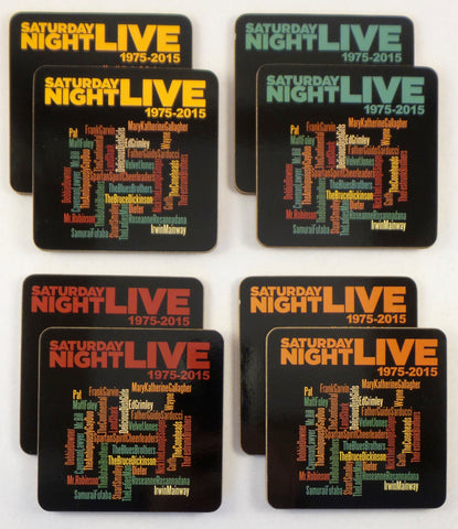 Saturday Night Live 40th Anniversary Drink Coasters - Set of 8