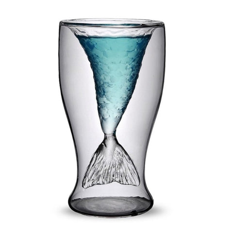 Mermaid Transparent Cocktail Drinking Glass 3.4 fl oz / 100ml