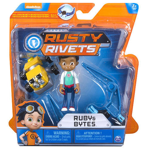 Rusty Rivets Ruby & Bytes Action Figure Mini Build Set