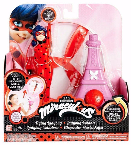 Bandai Miraculous 7.5 inch Action Doll Flying Ladybug with Eiffel Tower Base Toy