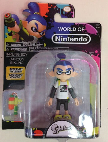 World of Nintendo Splatoon INKLING BOY with BLASTER 4 in. Action Figure