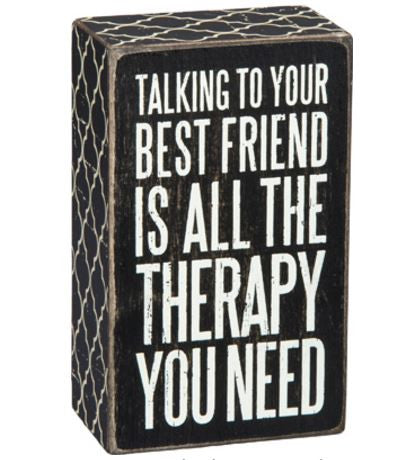 Best Friend Therapy | Wooden Plaque