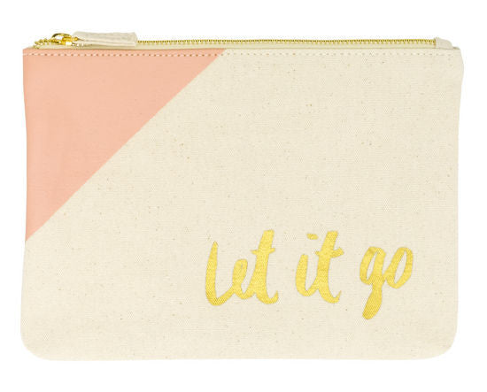 Let It Go | Zipper Tote