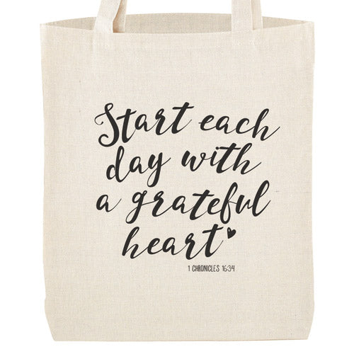 Start Each Day With A Grateful Heart | Tote Bag