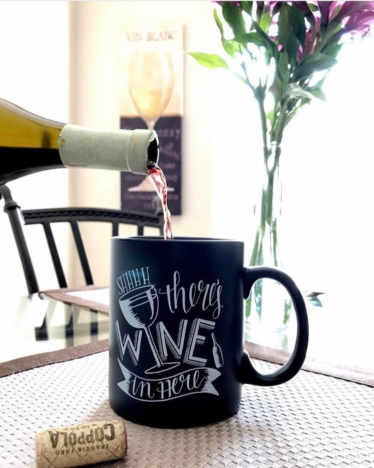 Shhh There's Wine In Here | Mug