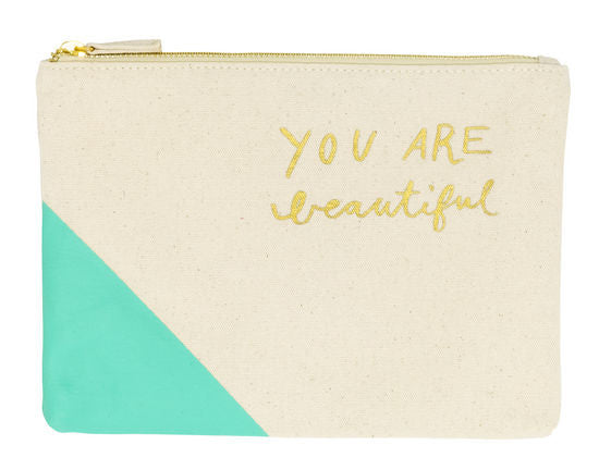 You Are Beautiful | Zipper Tote
