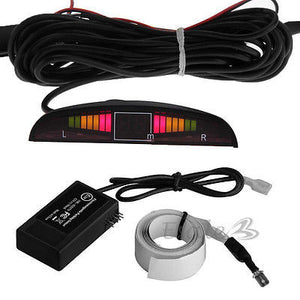 Car Mini Van Rv Parking Reverse Back Up Radar Sensor Kit Tape Buzzer LED  Display