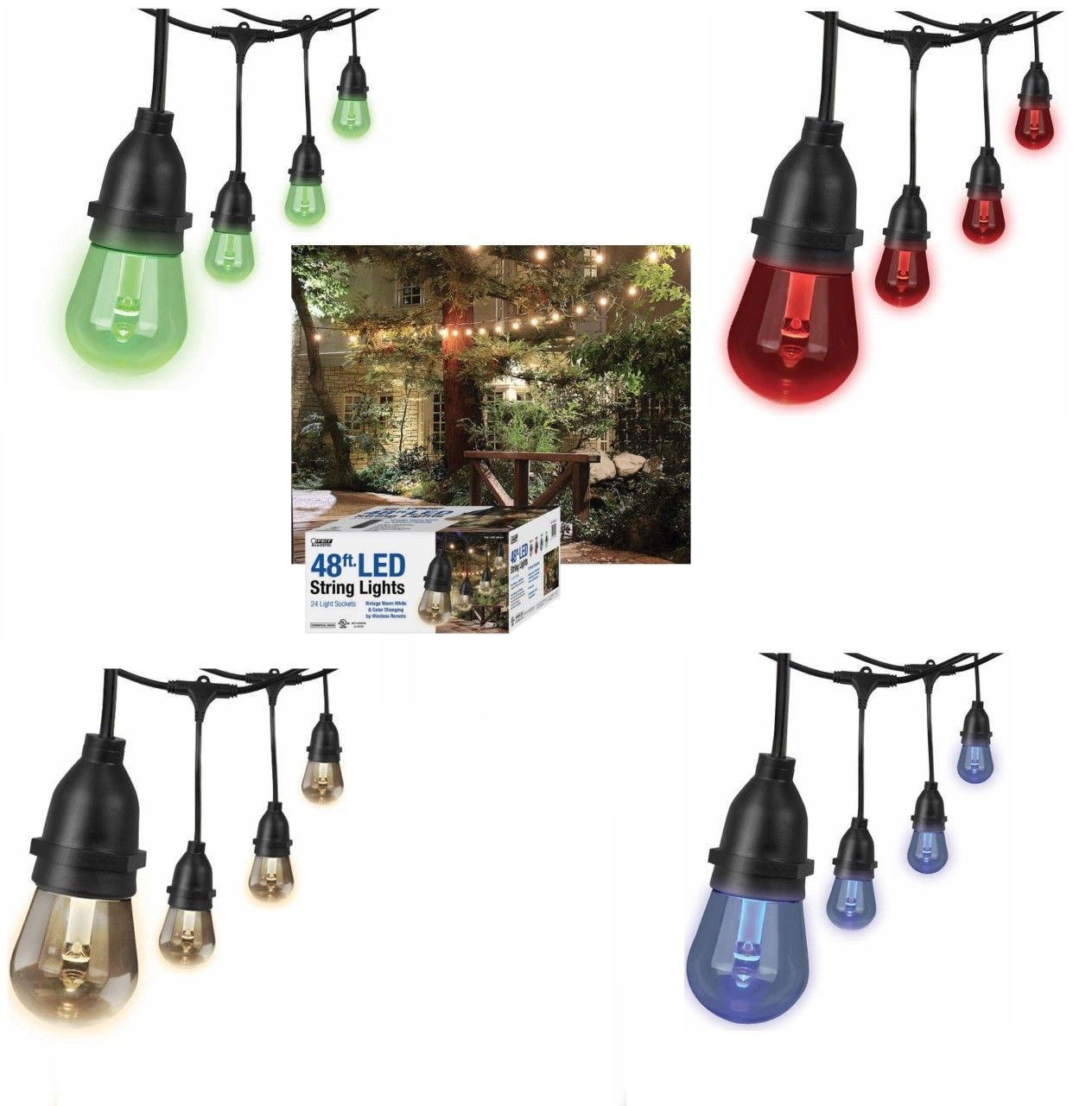 Amazon Com Feit Led String Lights