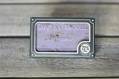 Lavender Flower Marseille Soap - 100 Gram Bar