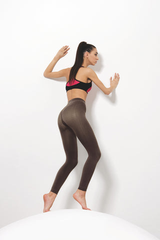 Silver Wave Leggings (Long) - Cellulite Control