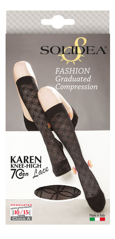 Karen 70 lace knee-high