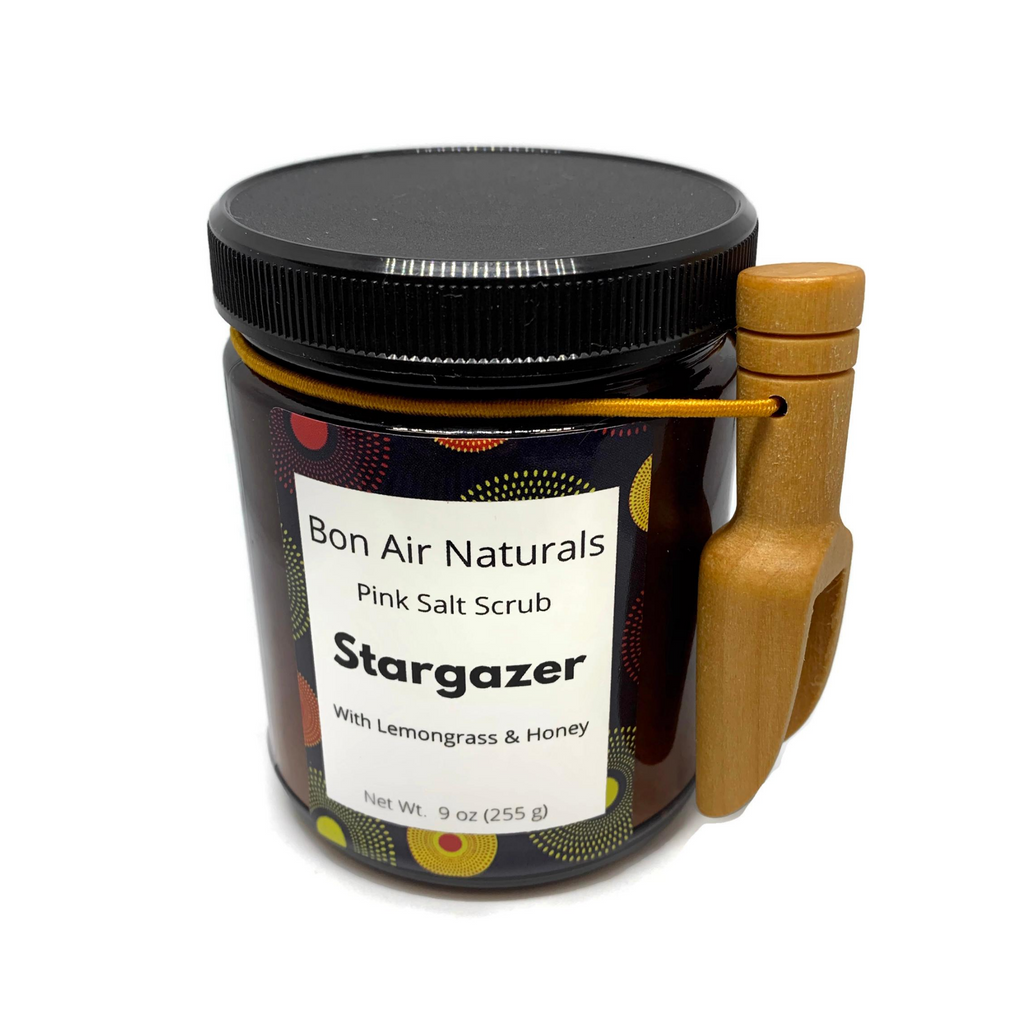 Body Scrub with Lemongrass, Coconut Oil, and Pink Salt - Stargazer Fragrance