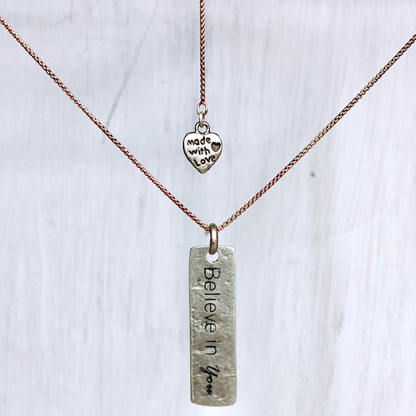 Mantra Necklace: BELIEVE IN YOU