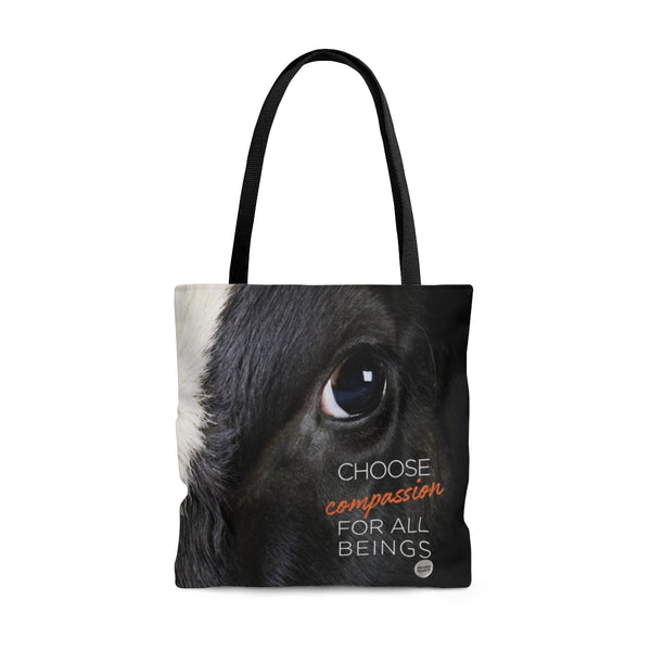 Choose Compassion For All Living BeingsTote Bag - Eyes