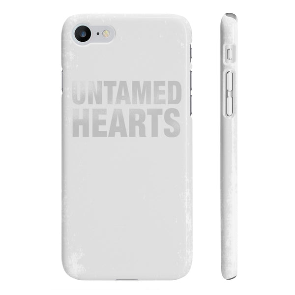 Untamed Hearts White Slim Phone Cases