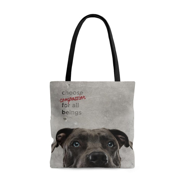 Choose Compassion Tote Bag - Dog