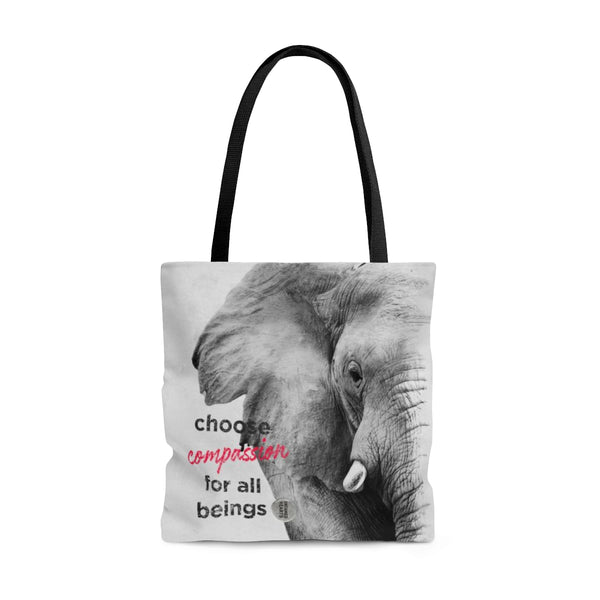 Tote Bag Choose Compassion - Elephant