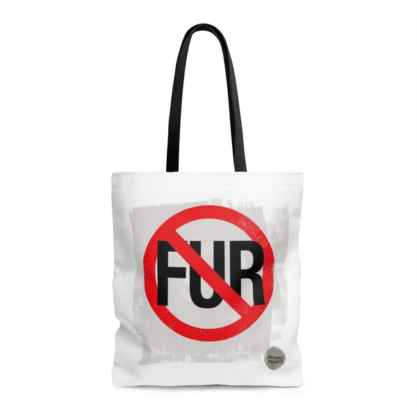 No Fur White Tote Bag