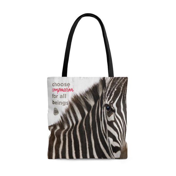Tote Bag Choose Compassion - Zebra