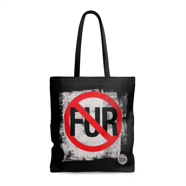 No Fur Black Tote Bag