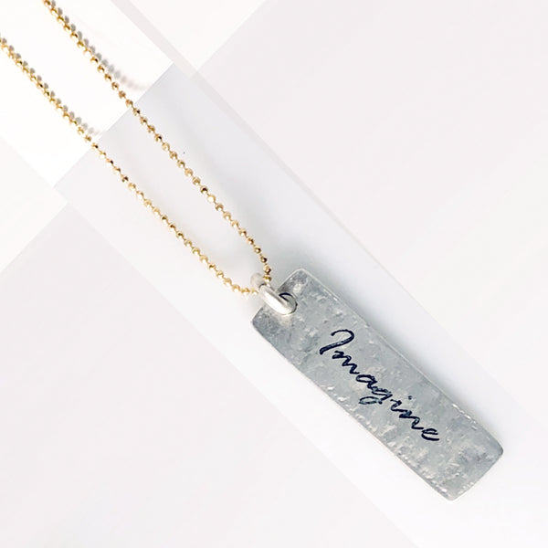 Mantra Necklace: IMAGINE