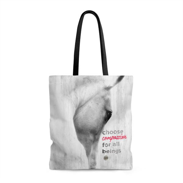 Choose Compassion Tote Bag - White Horse