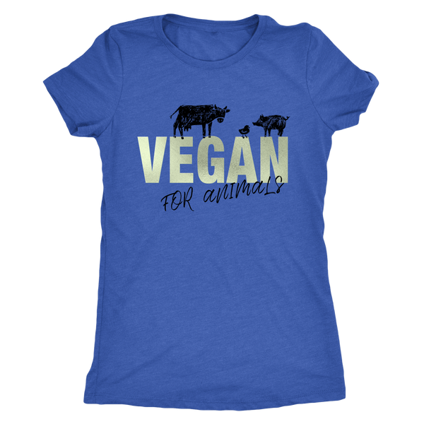 Vegan For Animals Sage T-Shirt for woman