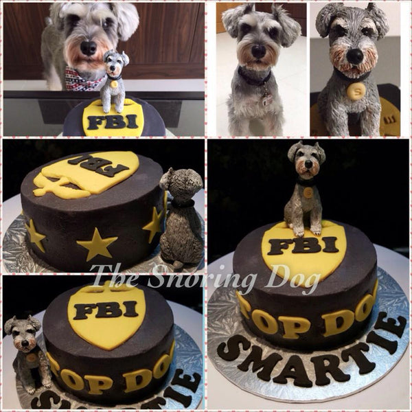 Custom Figurine Dog Cakes - The Snoring Dog Gourmet Dog Bakery and Dog Cakes - 6