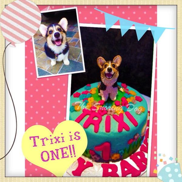 Custom Figurine Dog Cakes - The Snoring Dog Gourmet Dog Bakery and Dog Cakes - 5