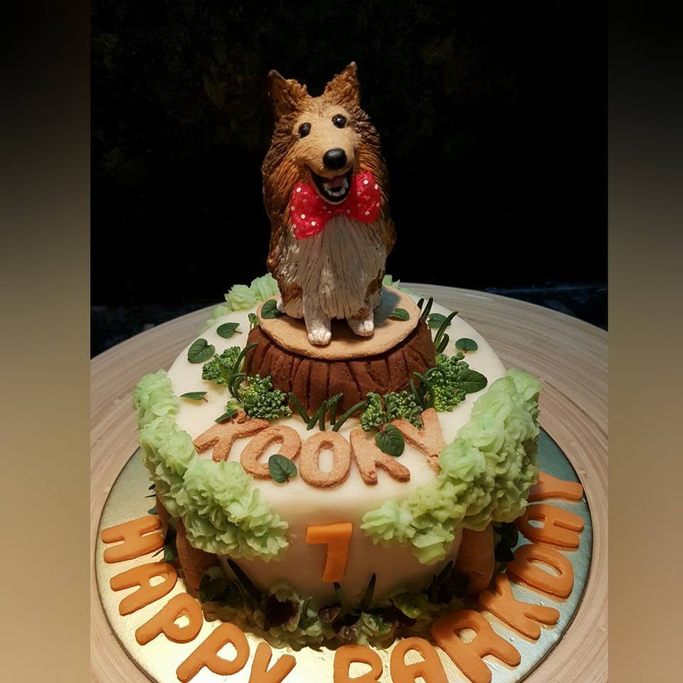 Custom Figurine Dog Cakes